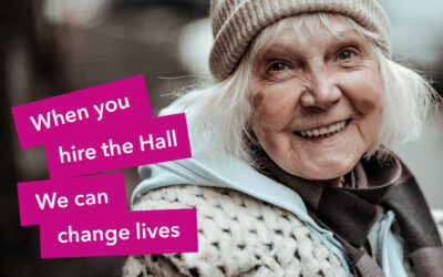 Hire the Hall and change lives.